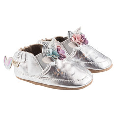 Metallic Silver Unicorn Soft Sole Shoes