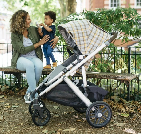 View larger image of VISTA Stroller - Spenser (Grey & Yellow Tartan)