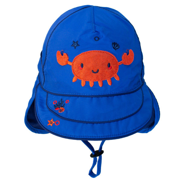 View larger image of UV Flap Hat - Nautical Blue