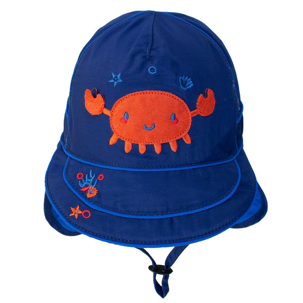 View larger image of UV Flap Hat - Navy Crab