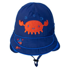 UV Flap Hat - Navy Crab