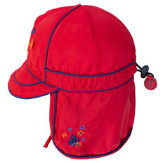 UV Flap Hat - Racy Red