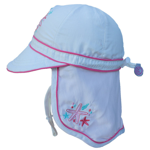 View larger image of UV Flap Hat - White