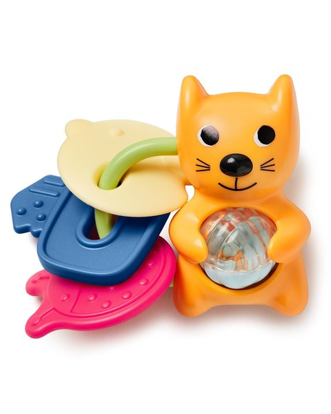 View larger image of Vibrant Village Rattle Teether - Cat