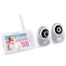 "5"" Digital Video Baby Monitor - Wide Angle Lens - 2 Cameras"