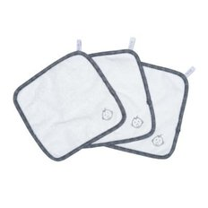 Wash Cloths-White/Blue-3pk