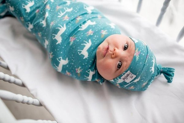 View larger image of Copper Pearl Newborn Top Knot Hat - Whimsy