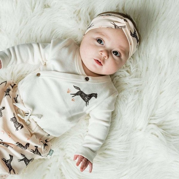View larger image of Wild Horses Long Sleeve Organic Bodysuit