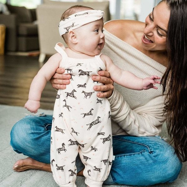 View larger image of Wild Horses Organic Romper