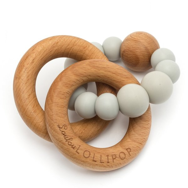 View larger image of Wood and Silicone Rattle Teether