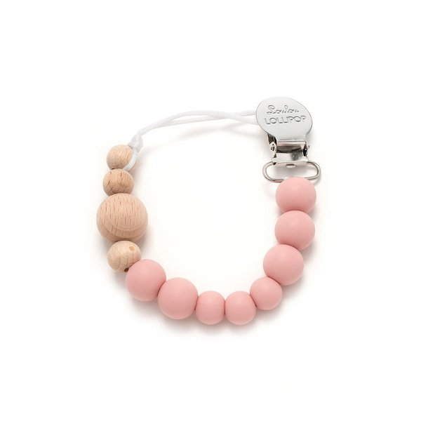 View larger image of Wood + Silicone Pacifier Clip