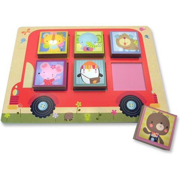 View larger image of Wooden Puzzles- Silly Squares