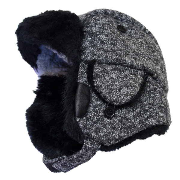 View larger image of Wool Trapper Hat-Black-L