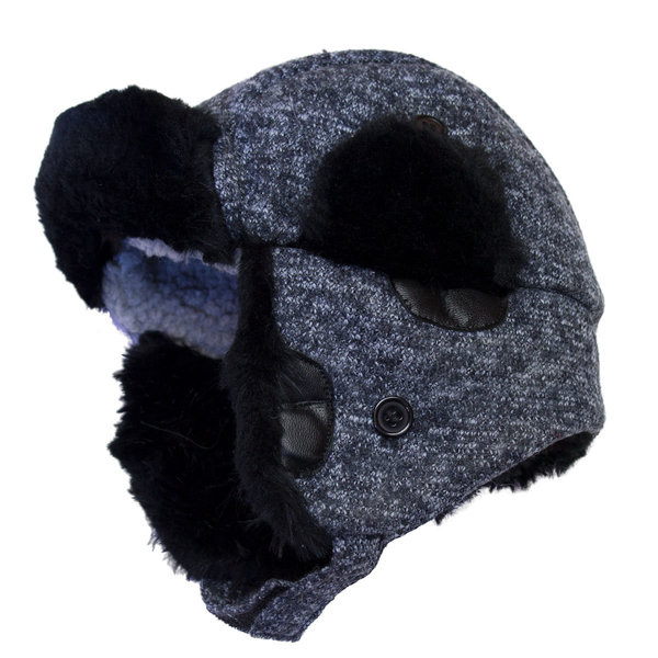 View larger image of Wool Trapper Hat-Blue-L