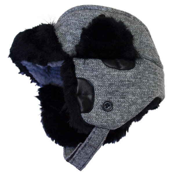 View larger image of Wool Trapper Hat - Graphite