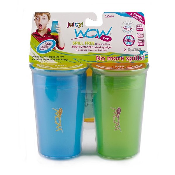 View larger image of WOW Cup 9oz Blue & Green 2 Pack